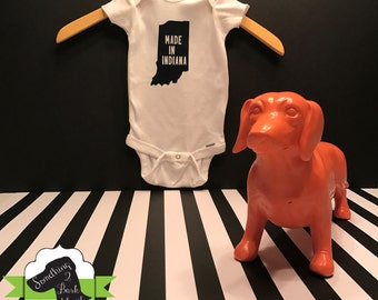 Made In Indiana Onesie
