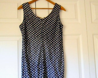 Vintage blue and white hearts Romper loungewear