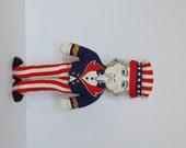 Vintage Uncle Sam Doll 4th of July Republican Democrat Political