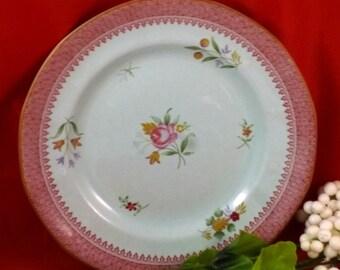 Vintage Calyx Ware Adams Lowestoft Ironstone Plate, 1970s