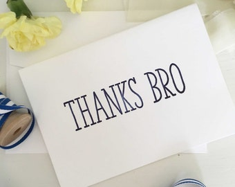 Thank You For Being My Groomsman Card - Groomsmen Thank You Cards - Thanks Bro- Groomsman Gifts - Best Man Gift - Best Man Thank You Cards