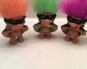 Russ Trolls lot of 3 Zoro with capes and masks SALE!