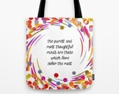 We Love Color tote bag colourful artist bag, quote tote bag