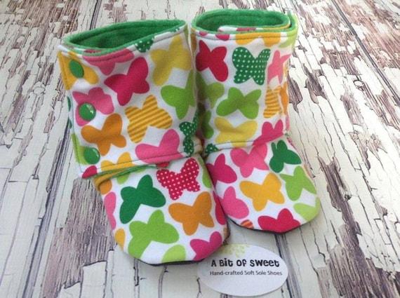 Butterflies Soft Sole Boots size 2t