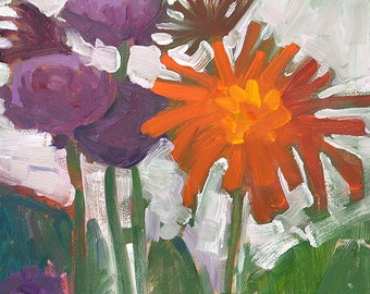 Still Life Oil Painting Flowers, Chrysanthemums