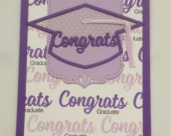 Purple Graduation Card