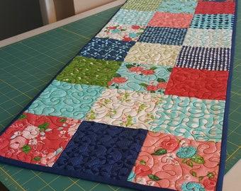 """Quilt Table Runner -- Moda Gooseberry Fabric 13 3/4"""" x 36"""""""