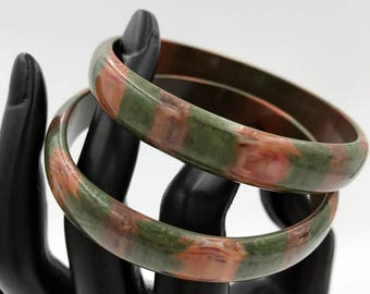 Jungle Stripe Lucite Bangles, ca. 1960s