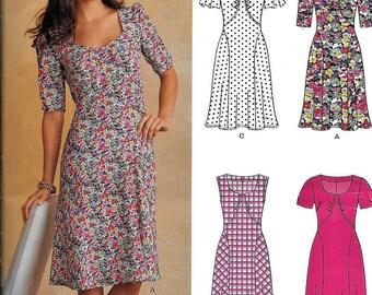 New Look Simplicity A6093 DRESS Sewing Pattern 6093 UNCUT Size 4, 6, 8, 10, 12, 14, 16 Cap Sleeve, Short Sleeve, Sleeveless