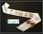 White and Gold bride to be sash more colors too bride sash mint and gold theme mint and gold theme party sash bridal shower sash bachelorett