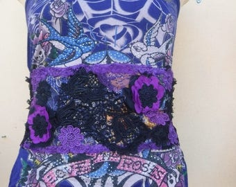 20%OFF vintage inspired shabby chic gothic cinch obi belt...FREE SHIPPING