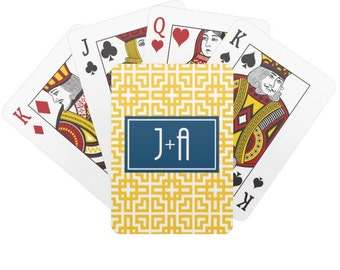 Personalized Playing Cards with Monogram- Poker Cards - Groomsmen Gift - Deck of Cards