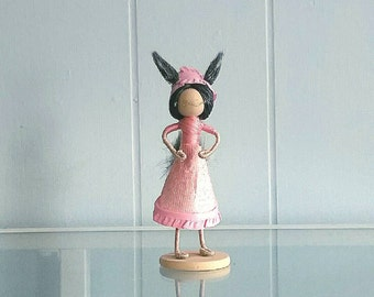 Mini Big Bad Wolf in Grannies Nightgown Inspired Doll
