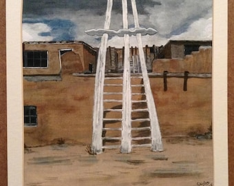 Ladder to the Sky - Print of original acrylic