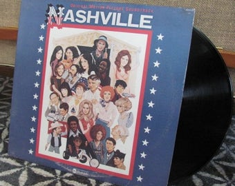 "Vintage 70's ""Nashville"" Original Motion Picture Soundtrack Vinyl Record Album - 1975 - 70's Soundtrack - 70's Movie - Jerry Weintraub"