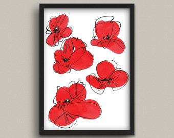 Poppies Digital Print