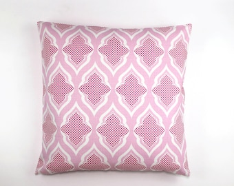 Christopher Farr Venecia Custom Pillows (shown in Hot Pink 24 X 24 -also comes in Aqua, Sage and Natural)