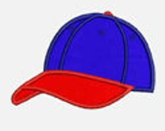 Baseball Cap...Embroidery Applique Design...Three sizes for multiple hoops...Item1252...INSTANT DOWNLOAD