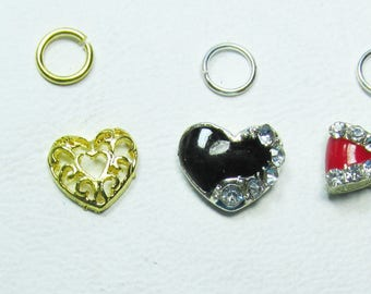Nail Dangles: Owl, Two Heart's and a Bow All are small 7A