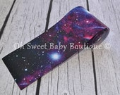 "Cosmic Galaxy 3"" Grosgrain US Designer Ribbon"