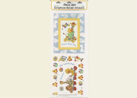 Suzy Little Suzy S Zoo Scrapbooking Border Sticker Sheet