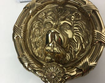 Vintage Solid Brass Lion Door Knocker