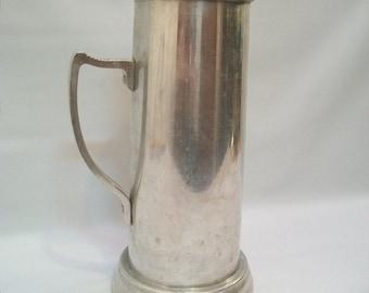 Vintage Tall Glass Bottom Aluminum Stein, Glass Bottom Stein, Vintage Metal Sein, Medieval Beer Stein, Ale Stein, Renaissance Faire Costume,