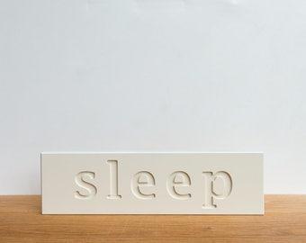 Wall Decor Sign - 'Sleep', word art, bedroom decor, signage, wall art, typography, inspirational, art block