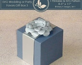 40% off SVG wedding or party favors gift box 003 with Flower
