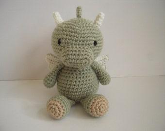 Crocheted Stuffed Amigurumi Baby Dragon