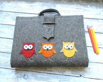 Artist Tote (A/4) with owl