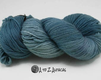 Hand Dyed Royal Baby Alpaca Yarn Bulky Weight The Blues