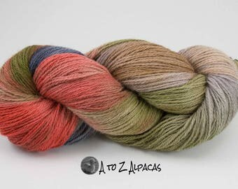 Worsted Weight - Hand Dyed ALPACA Yarn - Made in Canada