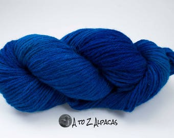 Royal Baby Alpaca Yarn Bulky Weight Hand Dyed Alpaca Yarn OOAK #1