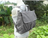 Fathers Day Sale 20% off Canvas backpack, canvas rucksack, canvas bag, travel bag, school bag, diaper bag, bags for women