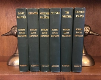 6 Book Robert Louis Stevenson Set | Scribners | Vintage Library | Free Priority Shipping in US
