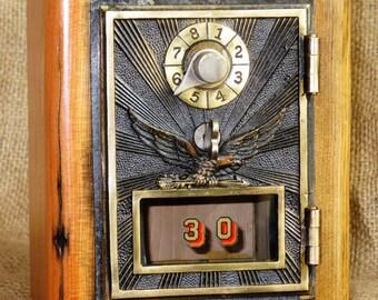 Post Office Door Bank No 30 - Maple - Barn Wood - 1906 - FREE SHIPPING