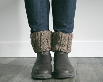 Knit Boot Cuff Toppers // Barley // THE CALGARY CUFFS