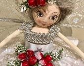 Ooak Christmas Tree Fairy Doll - Snow Storm