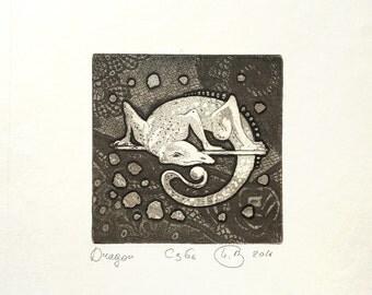 Dragon (Original Etching with Aquatint Print)