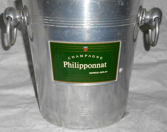 French vintage Philipponnat champagne ice bucket