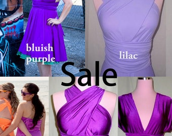Purple Dress Sale - Purple Infinity Convertible Dress - Please Read Description -  Purple Bridesmaids Dresses