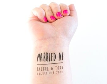 Mr and mrs temporary tattoo wedding tattoo mister and for Temporary tattoos wedding