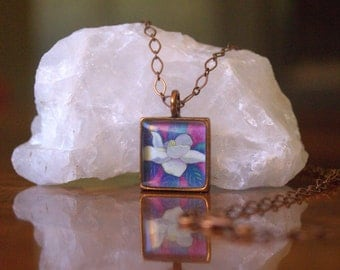 Magnolia Jewelry gift~ Magnolia necklace gift for her~original Magnolia flower by Rachelle Montoya~Magnolia pendant gift for her