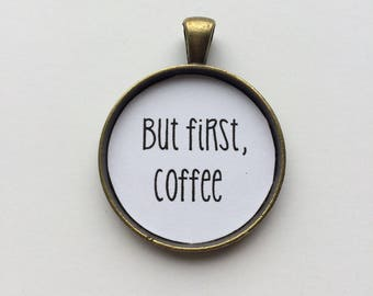 But first coffee necklace