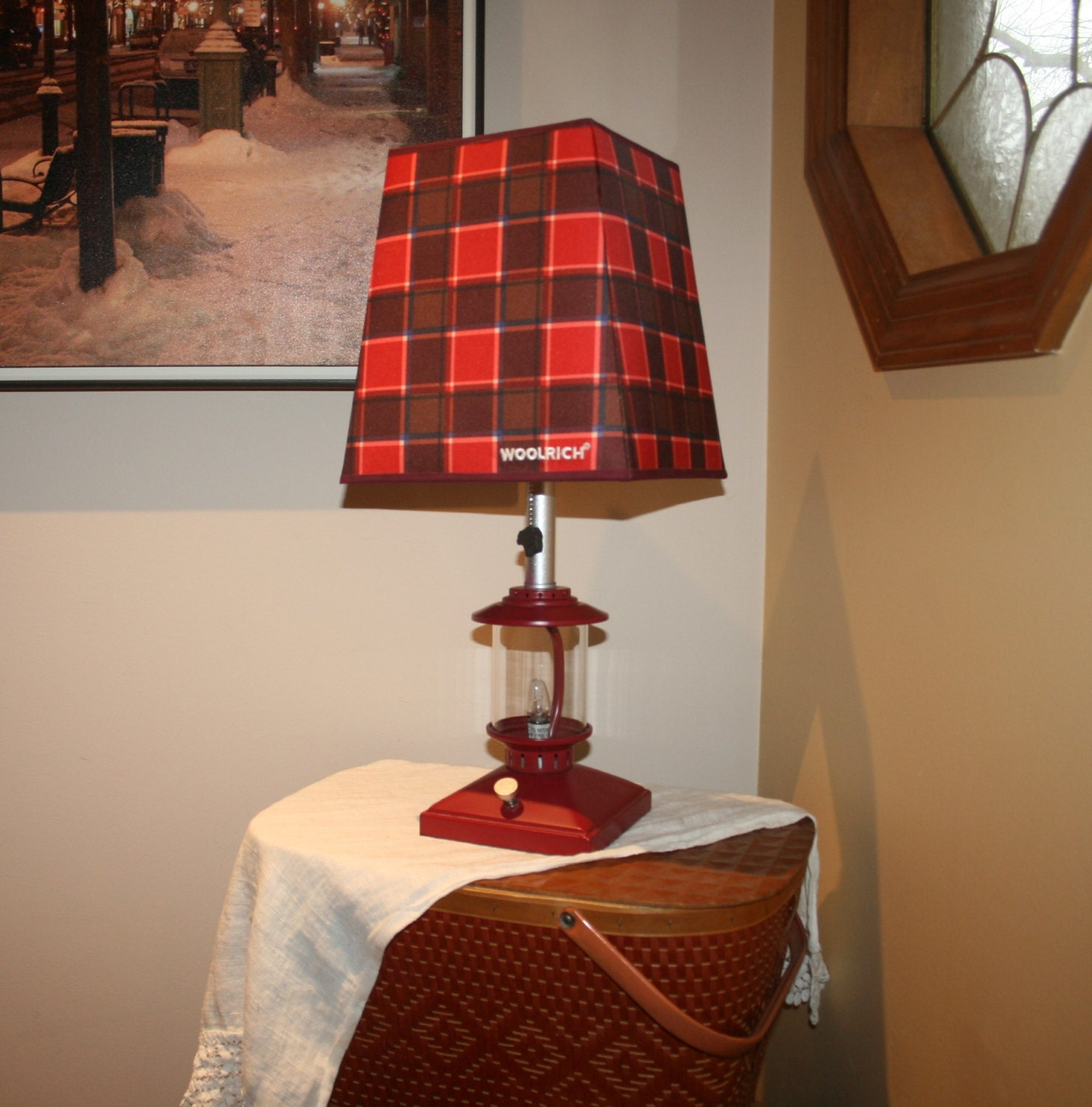 discontinued woolrich big bear campground lamp red lantern