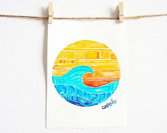 Surfer Girl - Beach Gifts - Surf No. 7