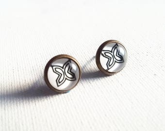 Fawohodie Earrings - Adinkra Symbol Earrings - Adinkra Studs