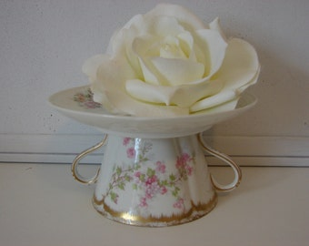 Vintage China display stand, cupcake display, candleholder, Limoges china candle