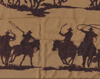 RTS - Fabric Destash  4 + yards - The Alexander Henry Fabrics Collection - Novelty Prints Shadow Riders - 100% cotton - cowboy - horse rodeo